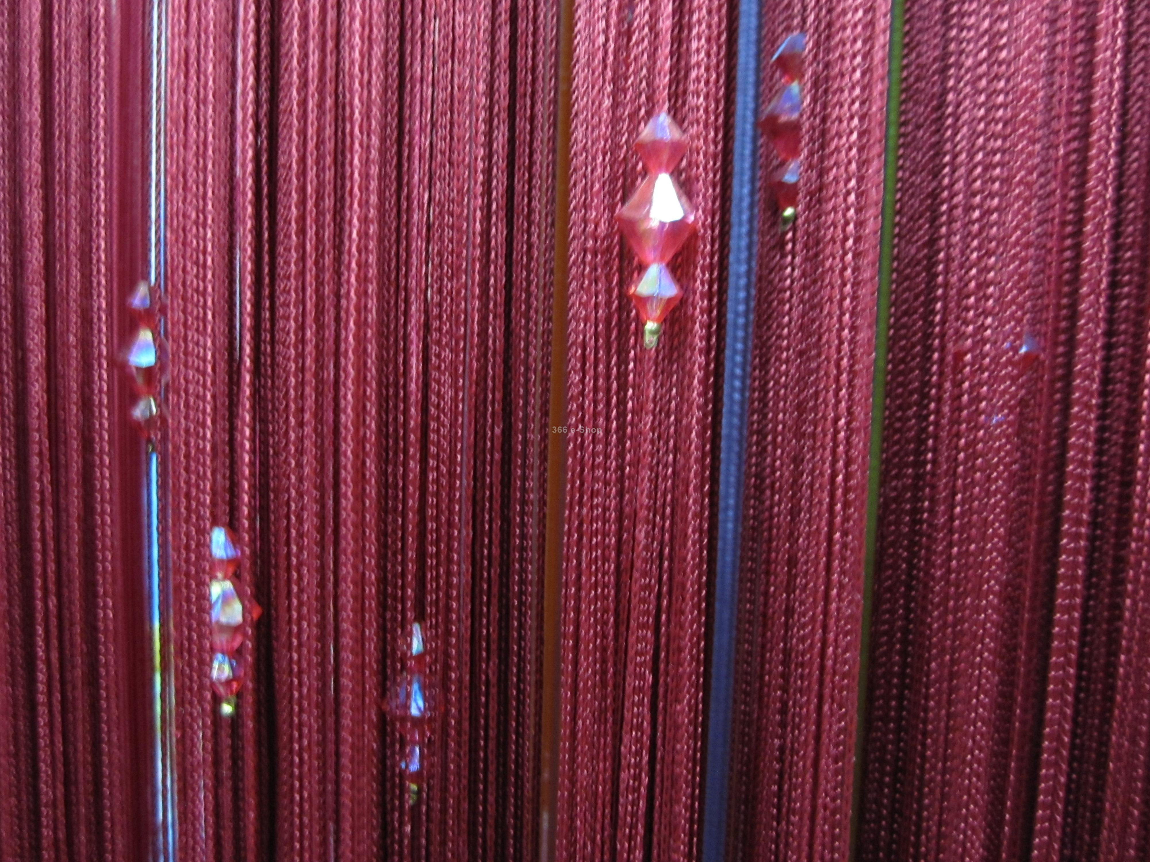 Acrylic Crystal Beads Curtain Window Door Passage Divider Decor Wine Red Free Shipping In