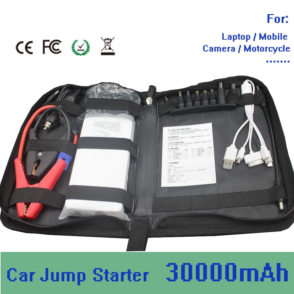 30000mah Multi-function Car Emergency Start Portable Power& Jump Starter Mobile Phone Laptop External Rechargeable Battery(China (Mainland))