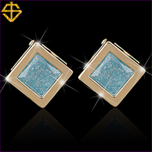 SI New Listing Fashion Jewelry 18K Gold Plated Inlay Ice Zircon Stud Earring For Women