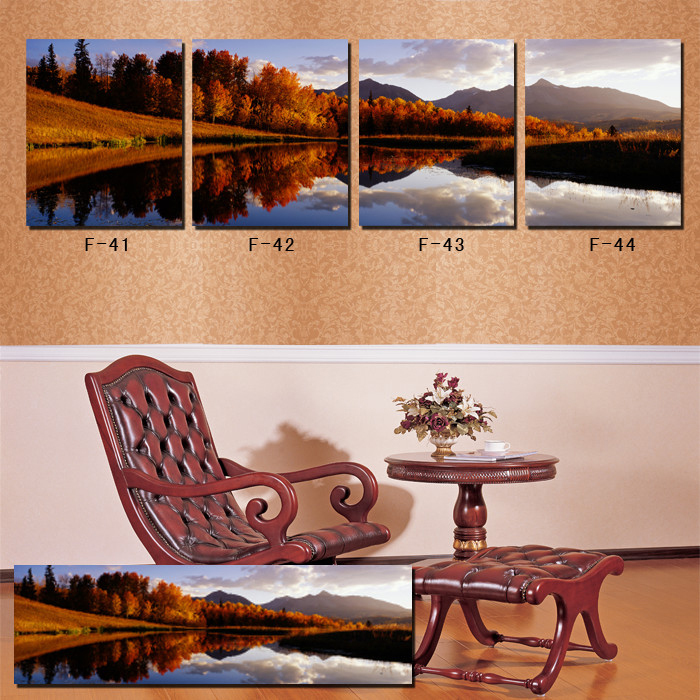 High quality 4 pieces set modern wall art canvas painting for Modern decorative pieces