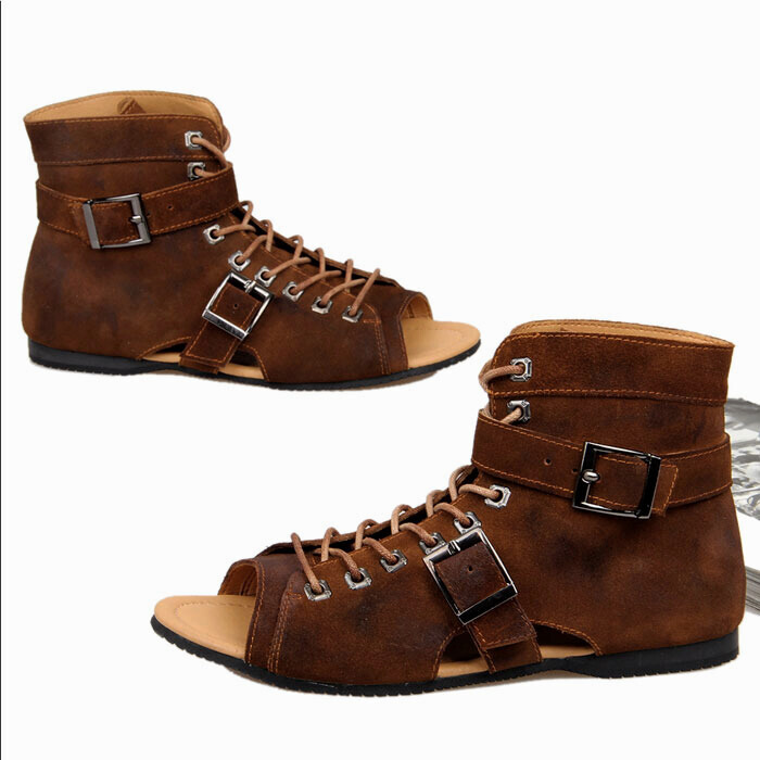 2015 men sandals high quality rubber sole leather sandals men outdoor sports summer sandals sandalia masculina plus size 39-42(China (Mainland))