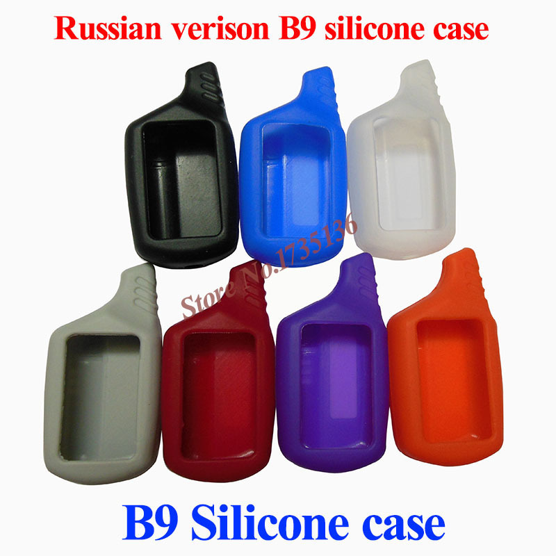 2015 Free shipping russian version B9 silicone case for starline B9/B6/A61/A91 lcd remote two way car alarm system(China (Mainland))