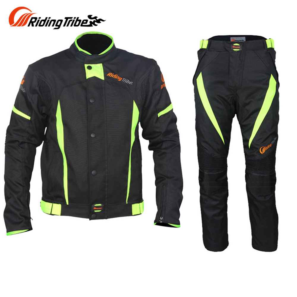 Riding Tribe Summer Breathable Motorcycle Protective Jacket + Pants Suits Protector Motorcycle Motocross Gear Suits(China (Mainland))