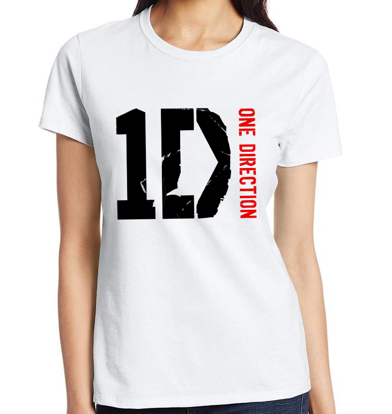 Lovely Girls T Shirts Multicolor Vintage Sports Female Tee Shirt Discounts One Direction Round Neck Women t-shirts 115(China (Mainland))