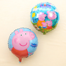 Buy 18inch Lovely hot 10 pcs/lot Pei Qi George Pippa Pig Balloons Globos Wedding Birthday Party Decoration Balloons Kids Toys for $6.13 in AliExpress store