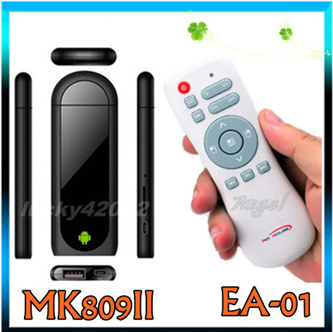 2.4G EA-01+MK809 II Google Mini PC Android 4.4.2 TV Box Dual Core 1.6Ghz RK3066 RAM 1GB ROM 8GB with Bluetooth HDMI(China (Mainland))