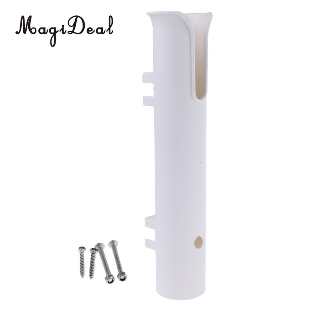 MagiDeal Durable UV Resistant Fishing Marine Boat Yacht Tube Rod Holder Support Stand Rack Side Mount Bracket Fits 1/2/4 Pole