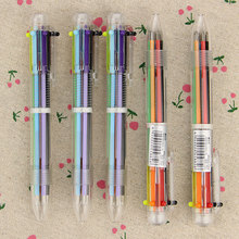 3pcs/lot DIY Cute Creative 6in1 Color Writing Colorful Multi Color Ballpoint Pens Office School Stationery Promotion Gift(China (Mainland))