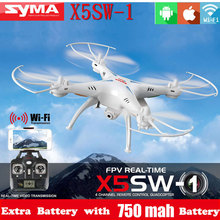 100% Original SYMA X5SW WIFI RC Drone fpv Quadcopter with Camera Headless 2.4G 6-Axis Real Time RC Helicopter Quad copter Toys(China (Mainland))