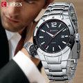 2016 CURREN Men Watches Top Brand Luxury Stainless Steel Strap Wrist Watches Sports Watch Waterproof Relogio