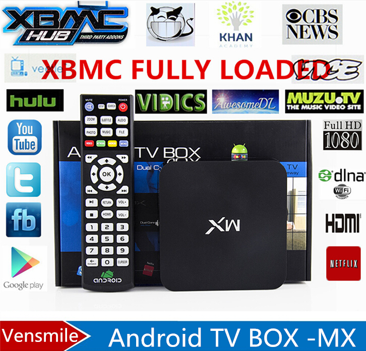 Vensmile MX factory Sale ! New MX2 Android 4.2.2 Dual Core Smart TV Box XBMC Media Player Network Streamer(China (Mainland))