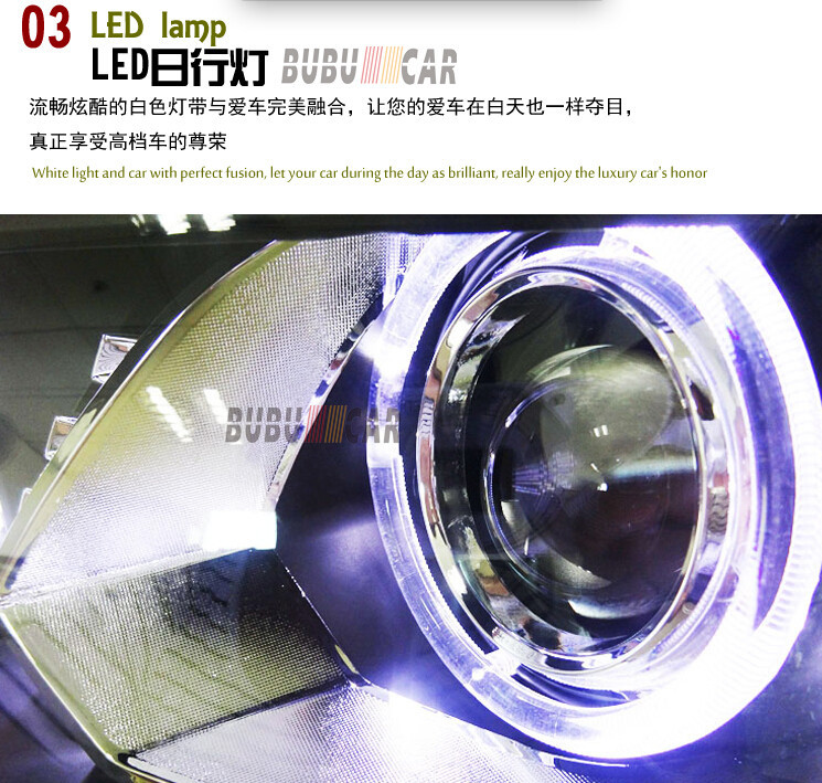Auto Clud 2010-2015 vw touran headlights LED light DRL car styling bi xenon lens HID Kit parking H7 xenon vw touran head lamp