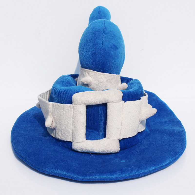 EMS 100pcs Hot Game LOL The Tiny Master Of Evil Blue Veigar Cosplay Hat Plush Hat Stuffed Cap Wholesale(China (Mainland))