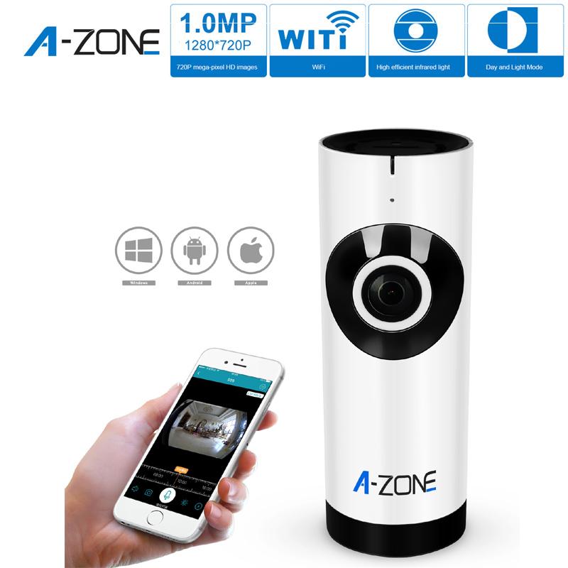 A-ZONE Day & Night IR Panoramic Camera 720P Wireless IP CCTV Camera(China (Mainland))