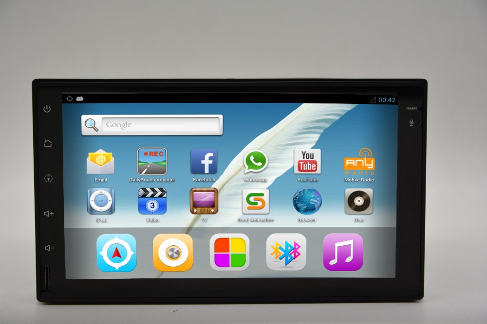 7'car Player DVD GPS Android 4.2 WIFI / 3G multi - touchscreen ipod / iPhone Charge double Zone downloaded 3D map + free camera()