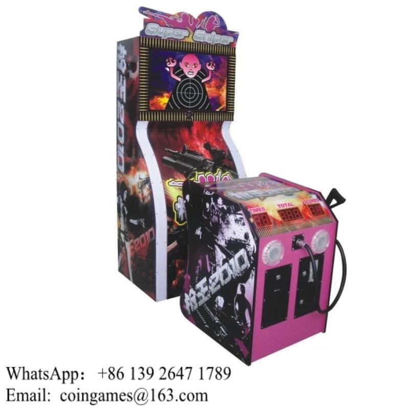 Super Sniper Amusement Simulator Arcade Gun Shooting Game Machine For Sale(China (Mainland))