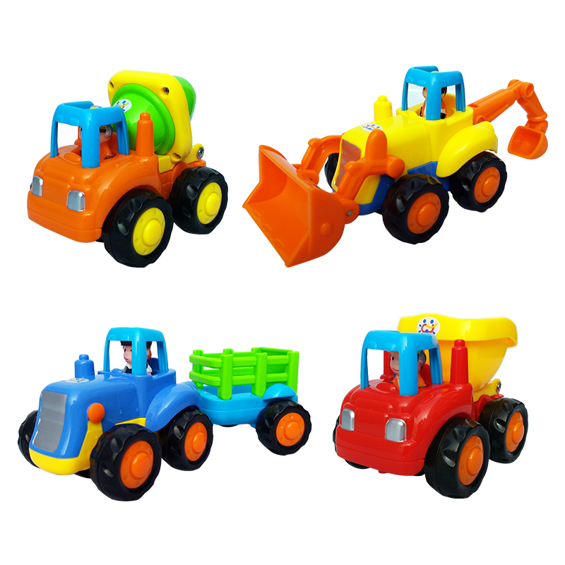 Best Construction Toys And Trucks For Kids : Pcs car toy tractor cement mixer bulldozer dump truck