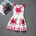 Girls dresses summer 2016 Kids clothes Fashion Princess tutu dress printing flower Children clothing