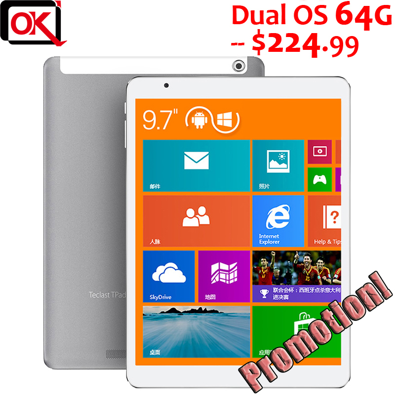"Teclast X98 Air 3G 64GB Dual Boot Intel Bay Trail-T Quad Core Tablet PC 2GB RAM GPS 3G Phone Call 9.7"" IPS Screen(China (Mainland))"