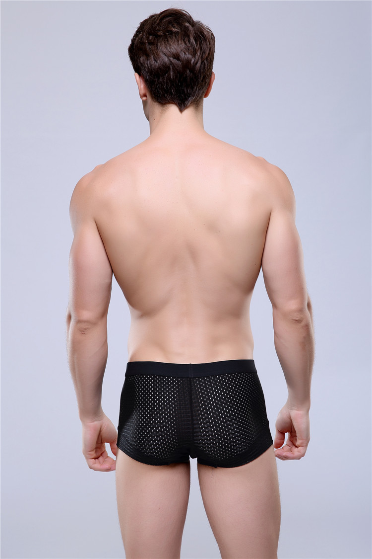 Breathable Mesh Silk Men s Boxer Four Corner Underwear Wholesale New 2015 Underwear Men Cotton Mens