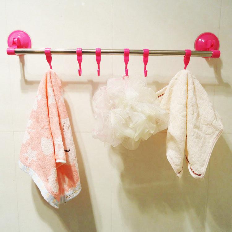 Househole Крючки Новый Многоцветный Мощный Присоски Вешалка Для Одежды Ванной Полотенце Крючки Рельсы Стойки Случайный Цвет