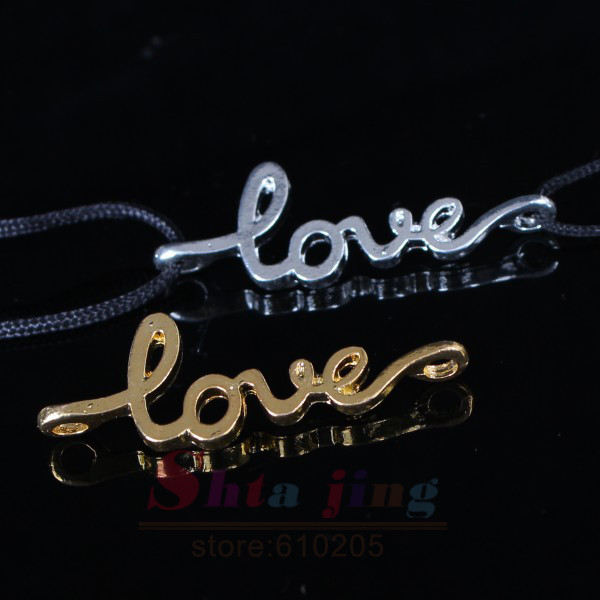 Wholesales New 4*1.3cm Monogram Mini Love Charms For Diy Bracelets makingGift for Valentine's Day(China (Mainland))
