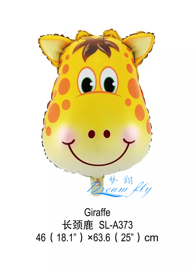 Free shipping Giraffe head shape foil balloon animals shape  cartoons finger ballloon<br><br>Aliexpress