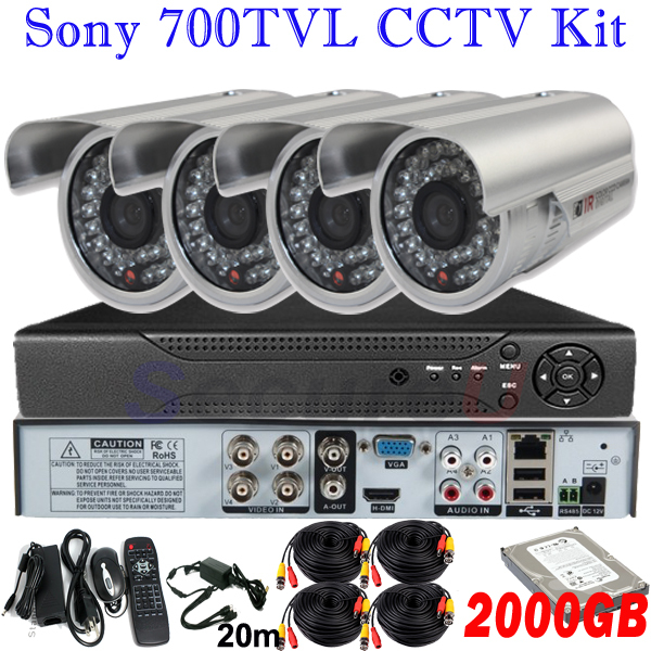 Wholesale dropshipping cctv security kits home business surveillance video monitor system 4ch HD DVR digital video recorder HDMI(China (Mainland))