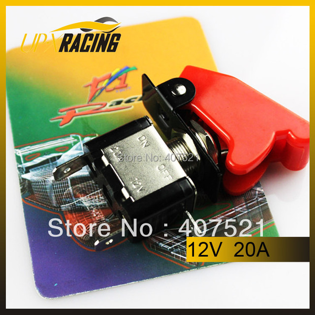 Auto racing racing Switch Panels red cover toggle switch 12V DC racing switch Ignition engine start