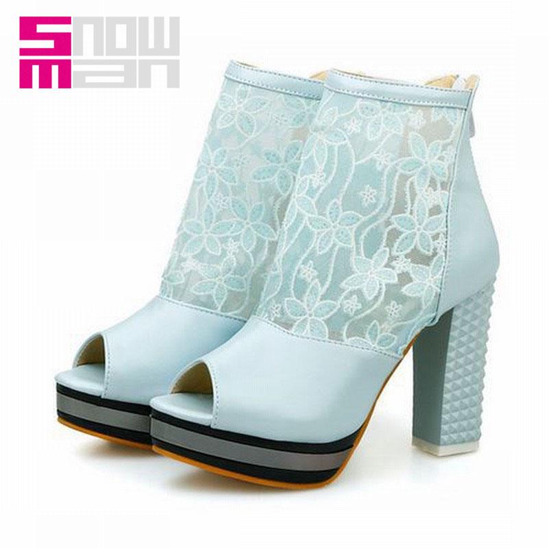 Fashion Women Shoes High Thick Heels Summer Boots Vintage Fashion Platform Gladiator Boots Women Summer Vintage Platform Boots