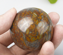 natural stone 5cm round Chinese nvwa stone palm health ball for father