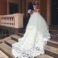 Handmade Butterfly Ball Gowns Wedding Dress 2017 Sweetheart Cathedral Train Dainty Bridal Wedding Gowns Dresses vestido