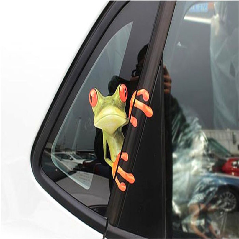 Durable 3D Peep Animal Funny Truck Car Window Graphics Sticker Wholesale Fast Shipping(China (Mainland))