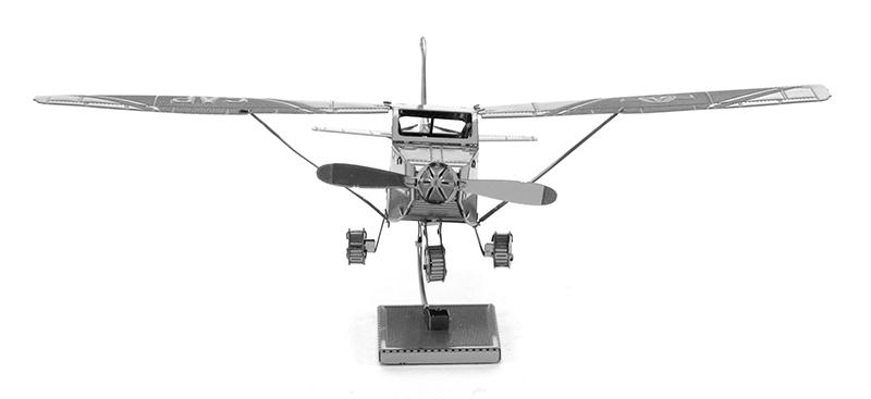 Cessna Skyhawk Metallic Laser 3D Puzzle Metal Plane Model Kit Desktop Decor(China (Mainland))