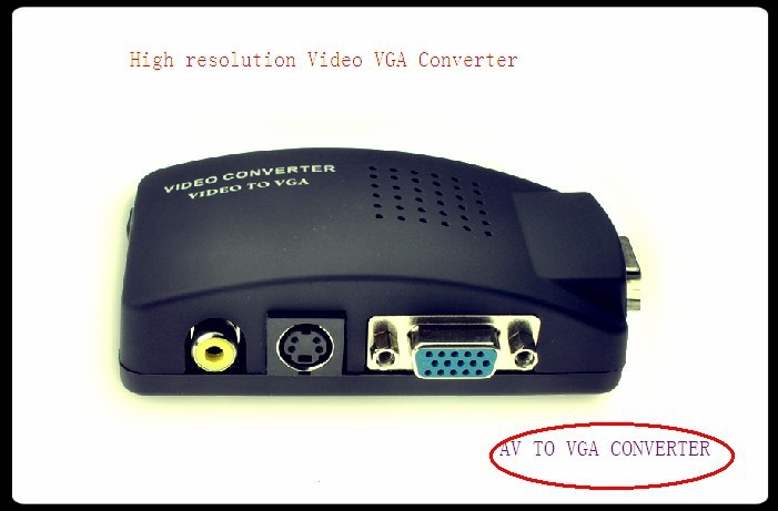 High quality AV to VGA Converter / S-Video to VGA / video converter set-top boxes to VGA monitor Cable From Chinese suppliers(China (Mainland))