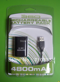 4800mAh Ni-MH Rechargeable Battery for Xbox 360 controller+ 4800mAh Charger for Xbox 360 Free shipping