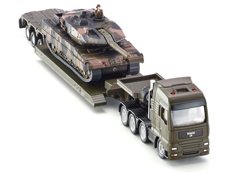 Siku 1:87 Metal Diecast Heavy Haulage Truck with Tank 1872(China (Mainland))