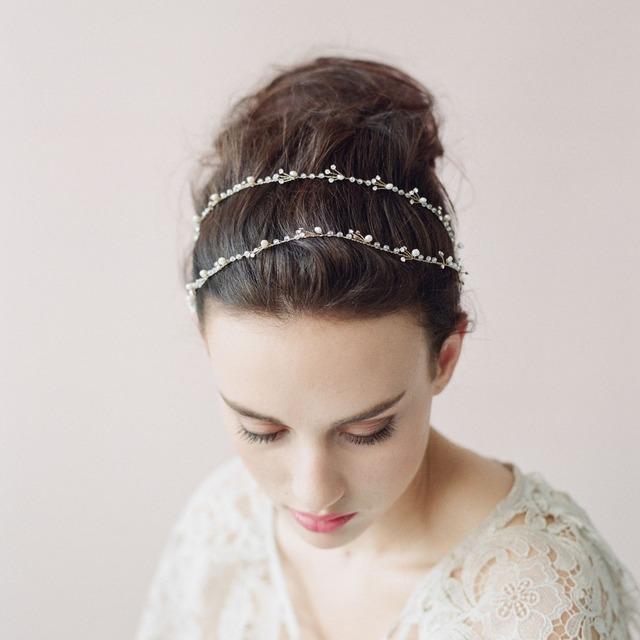 Роскошные красивая новое поступление 2015 золото свадебные повязка на голову кристаллы ...