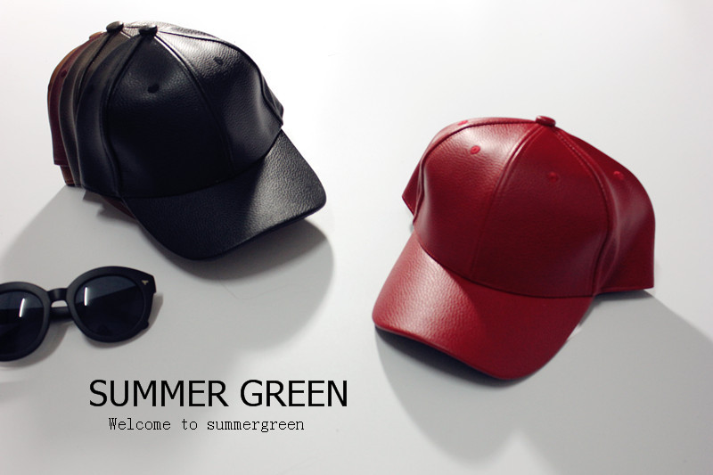 Hot Fashion Men PU Leather Cap Solid Color Faux Leather Black Baseball Caps Summer Outdoor Sun-shading hiphop Casual Visors(China (Mainland))