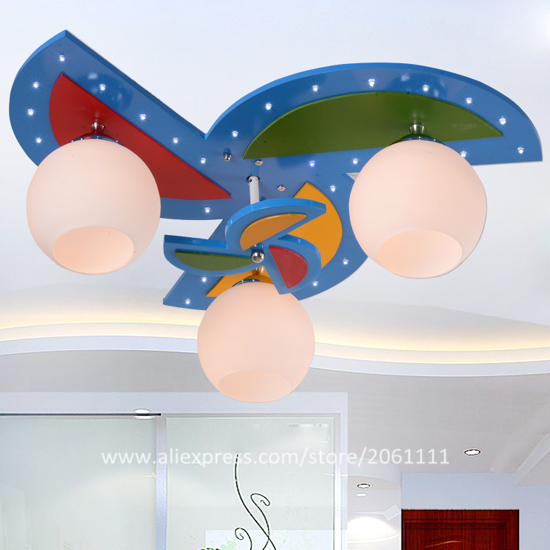 For bedroom study room safety environmental protection nursery lamps childrens lighting fixtures Windmill kids ceiling lights(China (Mainland))
