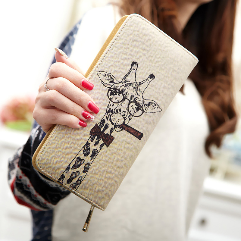 The Little Princess Wallet Couture Cute Cartoon Graffiti Zipper Wallet Purse Wallet Long Section Of Students(China (Mainland))