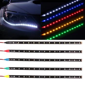 Waterproof Car Auto Decorative Flexible LED Strip HighPower 12V 30cm 15SMD Car LED Daytime Running Light Car LED Strip Light DRL