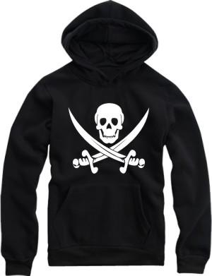 Buy men hoodies thick warm winter fur sweatshirts boys skull bone knife pirate basic simple loose male 4XL hat streetwear awesome cheap