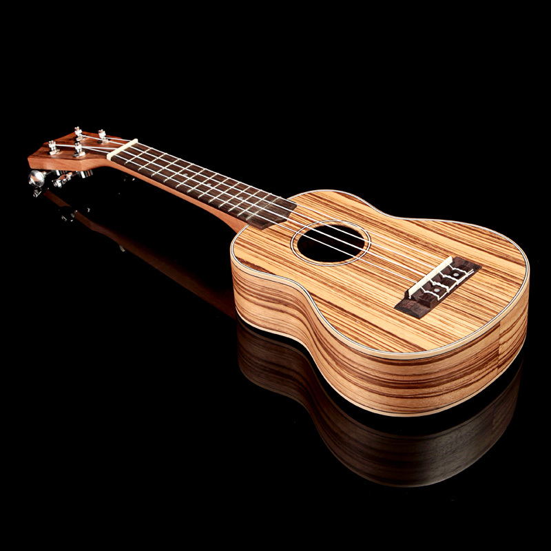 "21"" Mini Size Homeland Laminated Zebrawood Soprano Ukulele 4 String Ukulele Acoustic Instrument(China (Mainland))"