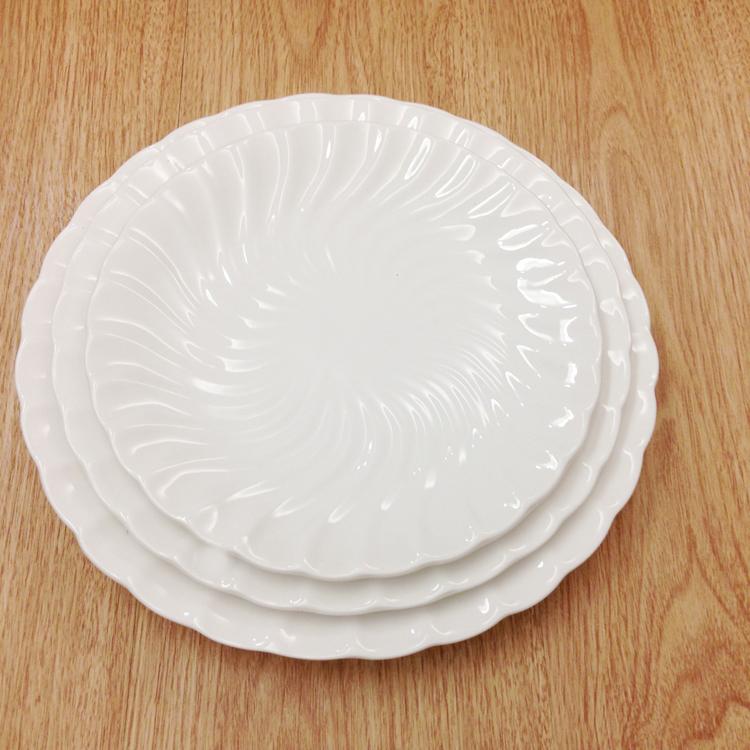 Ceramic Dinner Plate Sushi Dishes Unbreakable Household Hotel White Porcelain