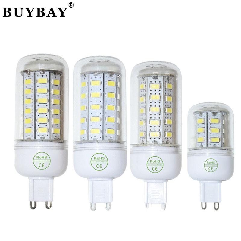 Buybay lamp SMD 5730 Bulb G9 110V/220V 24LED 90LED led corn bulb white/warm white light 5730smd lamp