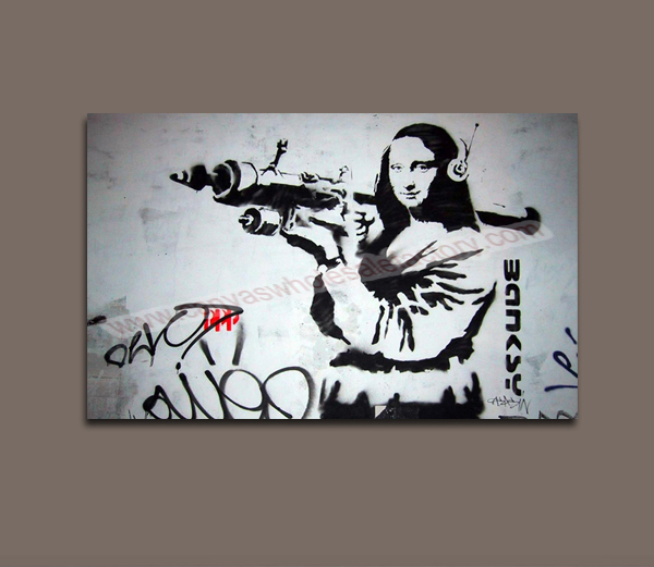 Classical Home Decoration Painting Canvas Banksy Art Painting Custom Canvas Photo Printing from Digital Picture for Living Room(China (Mainland))