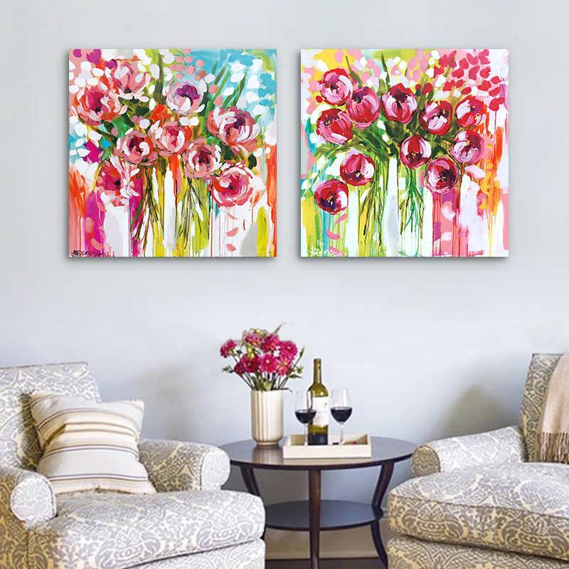Most Advanced High Printing Simulation Oil Painting High Quality Abstract Flower Pictures of the Sitting Room Adornment Art(China (Mainland))