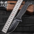 HX OUTDOORS folding knife D2 blade saber tactical fixed camping knife Hunting survival tools cold steel