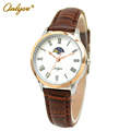 Onlyou Brand Fashion Casual Watch Women Men Genunie Leather Quartz Watch Boys Girls Ladies Dress Watch
